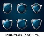 a set of chrome metallic... | Shutterstock .eps vector #55313296