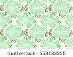 hibiscus flowers on white... | Shutterstock . vector #553133350