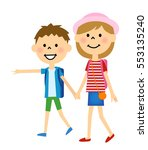 siblings going on a trip | Shutterstock .eps vector #553135240