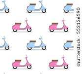 seamless pattern of the classic ... | Shutterstock . vector #553136590