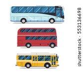 bus city transportation set.... | Shutterstock . vector #553136698