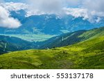 view of the alps along the... | Shutterstock . vector #553137178