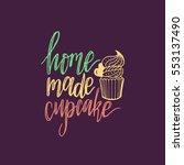 home made cupcake vector... | Shutterstock .eps vector #553137490