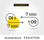 yellow linear two infographic... | Shutterstock .eps vector #553147534