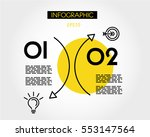 yellow arc line infographic ... | Shutterstock .eps vector #553147564