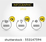 yellow linear infographic s ... | Shutterstock .eps vector #553147594
