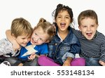 children smiling happiness... | Shutterstock . vector #553148134