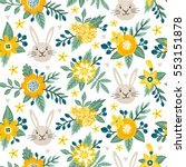 vector seamless pattern with... | Shutterstock .eps vector #553151878