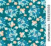 seamless delicate pattern of... | Shutterstock .eps vector #553155103