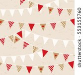bunting with dots  lines and... | Shutterstock .eps vector #553155760