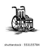 wheelchair isolated on white... | Shutterstock . vector #553155784