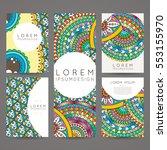 set of vector design templates. ... | Shutterstock .eps vector #553155970