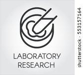 black symbol of laboratory... | Shutterstock .eps vector #553157164