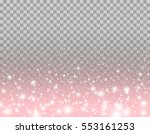 pink glitter particles and... | Shutterstock .eps vector #553161253