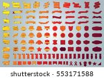 ribbon banner label red vector... | Shutterstock .eps vector #553171588
