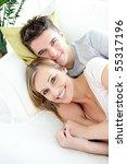 beautiful lovers having fun... | Shutterstock . vector #55317196