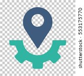 service map marker icon. vector ... | Shutterstock .eps vector #553175770