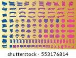 banner ribbon label blue vector ... | Shutterstock .eps vector #553176814