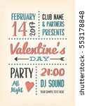 valentines day party poster... | Shutterstock .eps vector #553178848