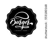 Hand Lettering Burger Food Log...