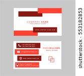 red business card modern design ...   Shutterstock .eps vector #553182853