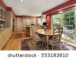 kitchen with eating area and... | Shutterstock . vector #553183810
