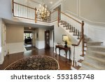 foyer in luxury home with... | Shutterstock . vector #553185748