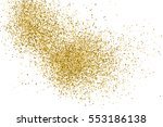 gold glitter texture isolated... | Shutterstock .eps vector #553186138