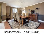 dining room in upscale home