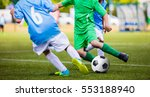 soccer football match. kids... | Shutterstock . vector #553188940