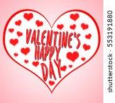 valentine's day concept... | Shutterstock . vector #553191880