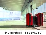stack of traveling luggage in... | Shutterstock . vector #553196356