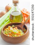 Mirepoix  Chopped Vegetable Cu...