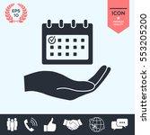 planning  time management  hand ... | Shutterstock .eps vector #553205200