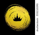 vector hand drawn crown with... | Shutterstock .eps vector #553210390