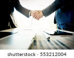 two confident business man... | Shutterstock . vector #553212004