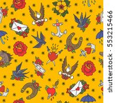 seamless doodle pattern.... | Shutterstock .eps vector #553215466