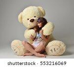 Young Beautiful Girl Hug Big...