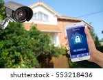 security camera and smart home... | Shutterstock . vector #553218436