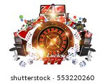 famous casino games concept 3d... | Shutterstock . vector #553220260
