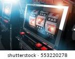 casino slot games. one handed... | Shutterstock . vector #553220278