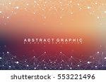big data complex. graphic... | Shutterstock .eps vector #553221496