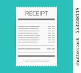 receipt icon in a flat style... | Shutterstock .eps vector #553238119