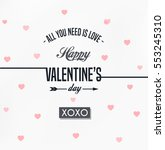 happy valentines day card ... | Shutterstock .eps vector #553245310