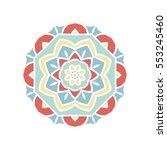 circular background. oriental...   Shutterstock .eps vector #553245460