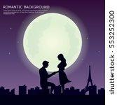 romantic scene illustration | Shutterstock .eps vector #553252300