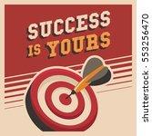 success poster motivation in... | Shutterstock .eps vector #553256470