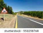 a tarmac countryside road with... | Shutterstock . vector #553258768