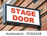 london theater stage door sign | Shutterstock . vector #55326418