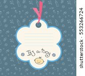 Baby Boy Arrival Card Or Showe...